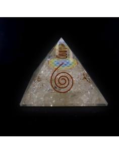 Pirámide de Orgonita Cuarzo 7,5x7,5cm