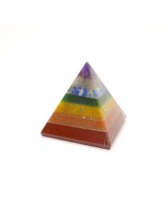 Pirámide chakras 3x3cm