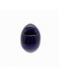 Huevo de Ágata Teñida Lila