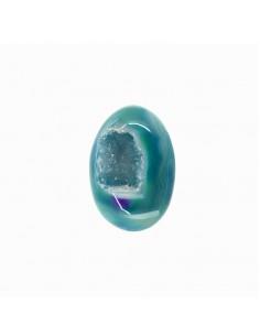 Huevo de Ágata Teñida Azul