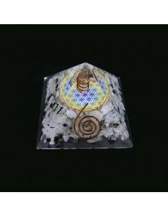 Piramide de Orgonita de Piedra Luna 7x7cm