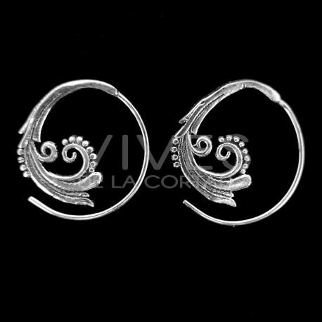 Pendientes Espiral con Baño de Plata -P55-