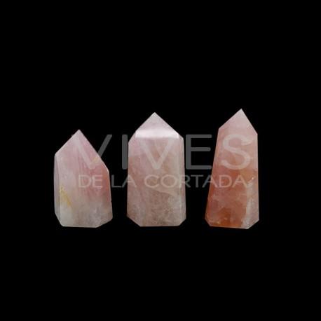 Puntas Pulidas de Cuarzo Rosa Extra (pack 250gr)