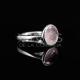 Anillo de Cuarzo Rosa en Plata de Ley 925 - Colección Geo