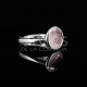 Bague quartz rose en argent sterling 925 - Geo Collection