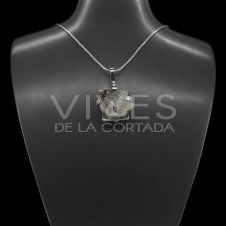 Colgante de Cuarzo Elestial en Plata de ley 928 (A20)