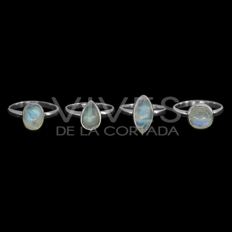 Anillos de Piedra Luna Grande en Plata de Ley 925