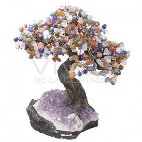 Bonsái de Mixto de Minerales con Base de Drusa de Amatista (AR4)