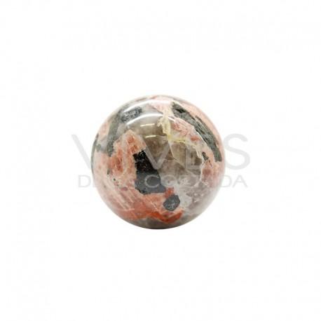 Esfera de Jaspe Marrón y Cuarzo Turmalinado: T1