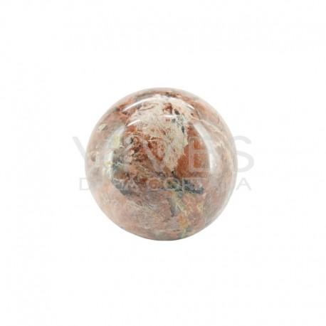 Esfera de Jaspe Marrón y Cuarzo Turmalinado: T3