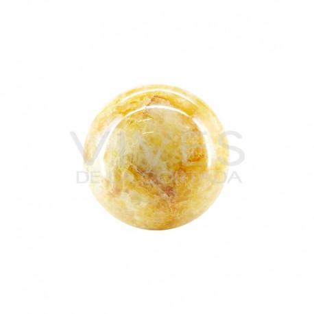 Esfera Grande de Cuarzo Hematoide Amarillo H1