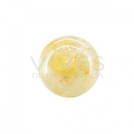 Esfera Grande de Cuarzo Hematoide Amarillo H2