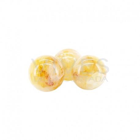 Esferas de Cuarzo Hematoide Amarillo (Pack 500gr)