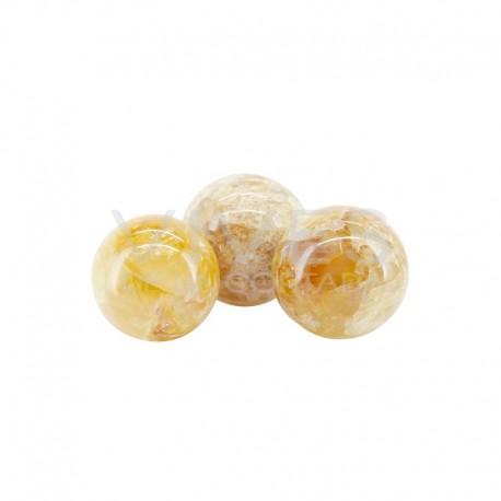 Esfera de Cuarzo Hematoide Amarillo (Pack 1kg)