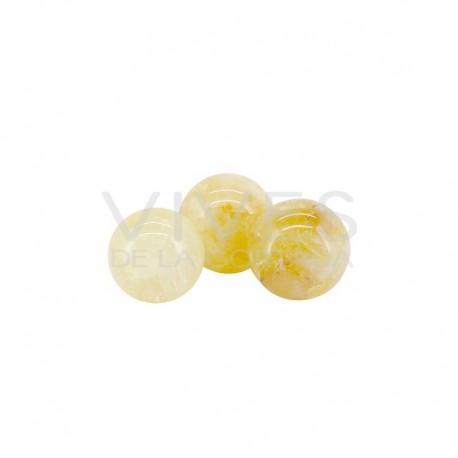 Esferas Pequeñas de Cuarzo Hematoide Amarillo (Pack 100gr)