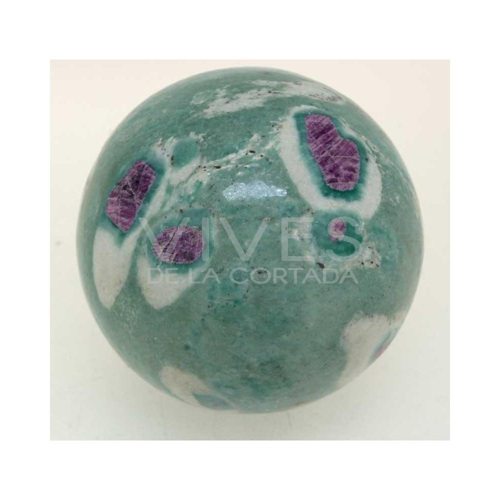 esferas de zoisita con rub uackg