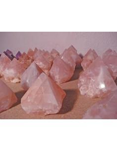 Puntas cuarzo rosa