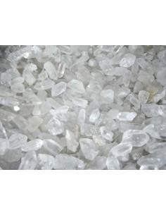 Lote de 20kg Puntas de Cuarzo Blanco en Bruto Pequeñas