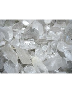 Lote de 20kg Puntas de Cuarzo Blanco en Bruto Medianas