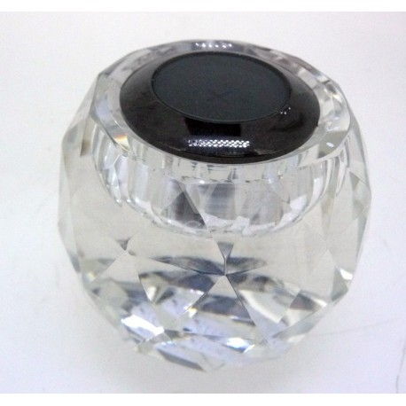 Expositor de vidrio tallado en forma de barril