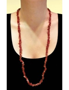 Collar Chip de Jaspe Rojo