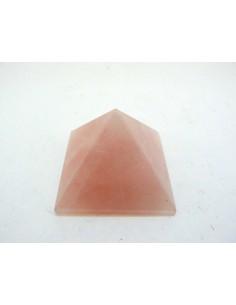 Pirámide de Cuarzo Rosa 3x3x2cm