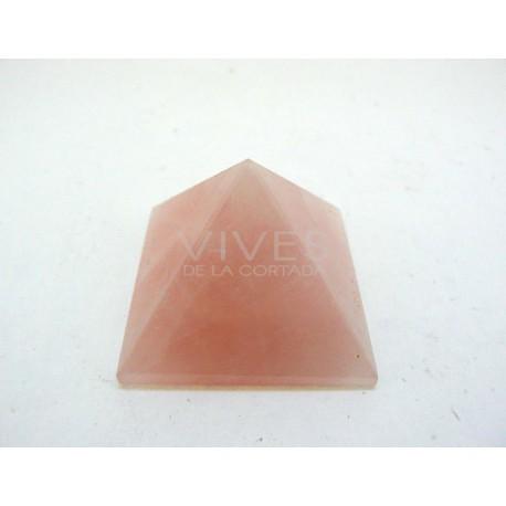 Pirámide 3x3x2cm Cuarzo Rosa