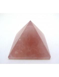 Pirámide de Cuarzo Rosa 4x4cm