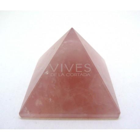 Pirámide 4x4x3cm Cuarzo Rosa