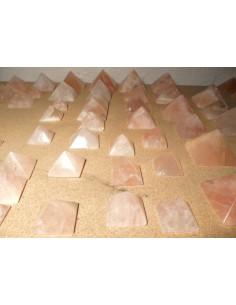 Pirámides de Cuarzo Rosa (pack 500gr)