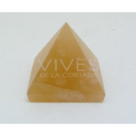 Pirámide 3x3x2cm Aragonito