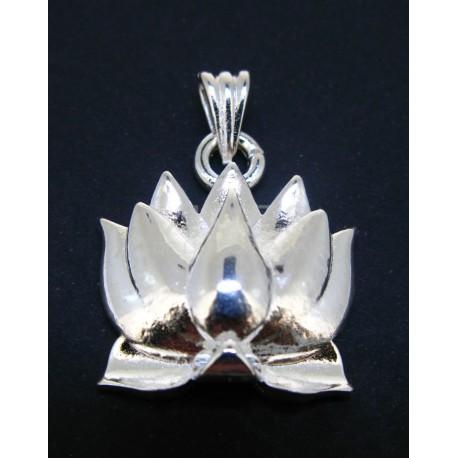 Colgante Flor de Loto Baño plata