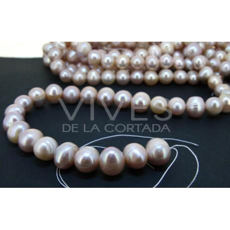 Hilo perla rosada 12mm