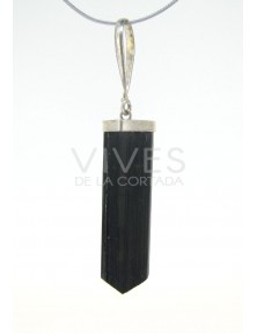 Colgante de Turmalina Negra Cristal Pequeño - Plata de Ley 925