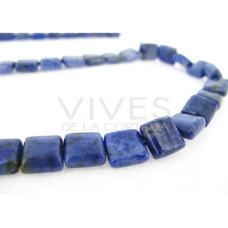 Hilo Cuarzo Azul Cuadrado 10x10mm