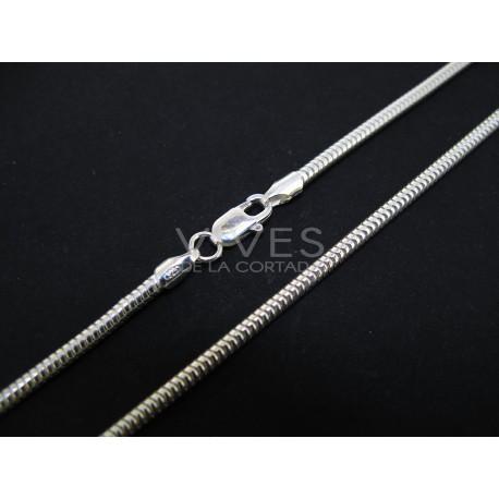 Cordón plata 40cm 2,36mm (C10)