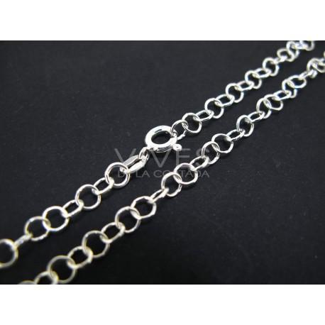 Cadena de plata redonda 45cm (C39)