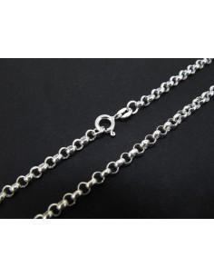 Cadena plata eslabones rectángulos mini 40cm 0,60mm (C18)