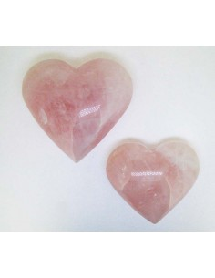Corazón Pulido de Cuarzo Rosa (pack 250gr)
