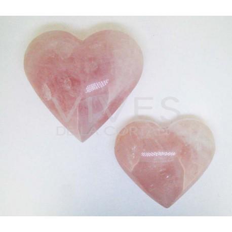 Corazón Pulido Cuarzo Rosa