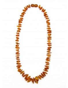 Collar Chips de Ambar Oscuro 42cm
