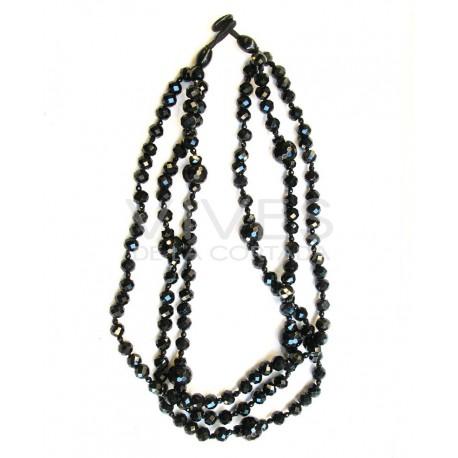 Collar de Obsidiana Bola Facetada