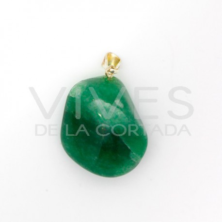Colgante Rodado de Cuarzo Verde