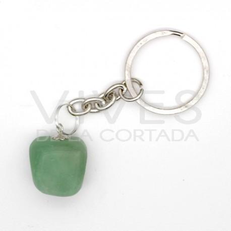 Llavero Cuarzo Verde rodado
