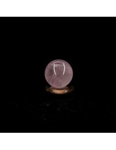 Esfera de Cuarzo Rosa Pequeña