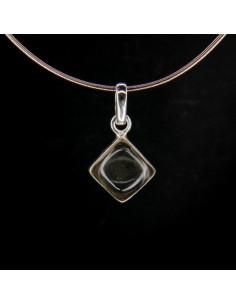 Colgante de Cuarzo Blanco Cubo Pequeño - Plata de Ley 925