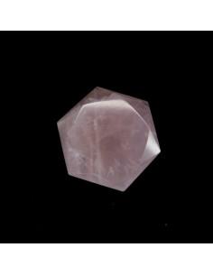 Forma Hexagonal de Cuarzo Rosa