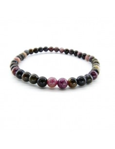 Pulsera de Turmalina Multicolor Bola Lisa 4mm