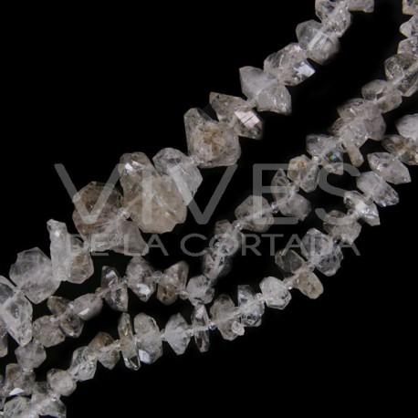 Hilo Cuarzo Diamante Herkimer para Collar