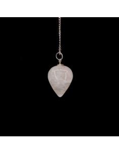Péndulo Gota de Cuarzo Blanco